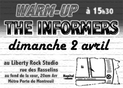 2000, 2 avril - Liberty Rock Studio (Paris)