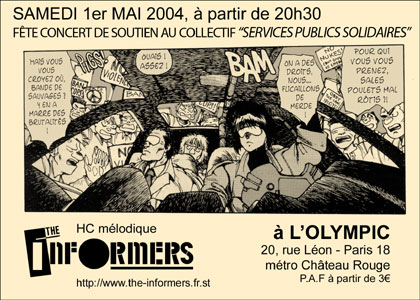 2004, 1er Mai - Olympic (Paris) - The Informers