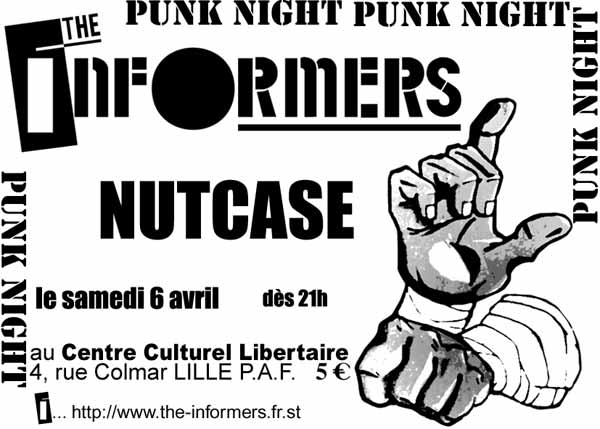 2002, 6 avril - CCL (Lille) - The Informers, Nutcase